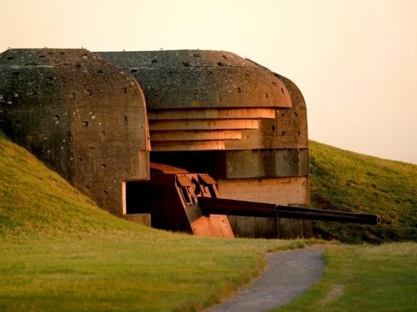 German battery of Longues sur Mer