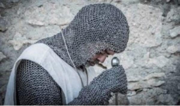 Les remparts de Carcassonne avec un chevalier