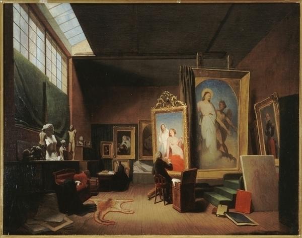 Dans l'atelier de l'artiste