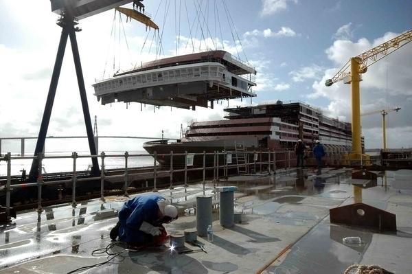 Les chantiers navals de Saint-Nazaire