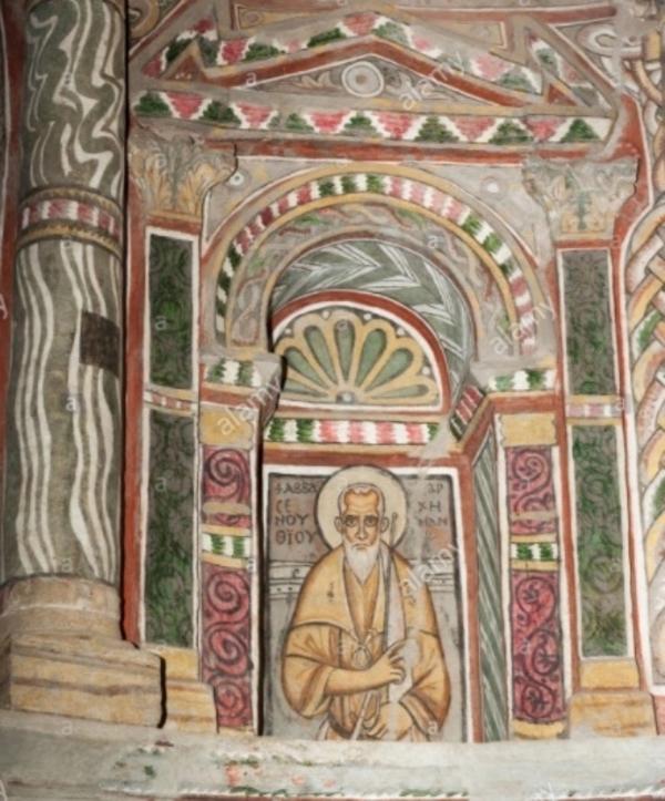 Les peintures murales du Monastere Rouge pres de Sohag (Haute Egypte)