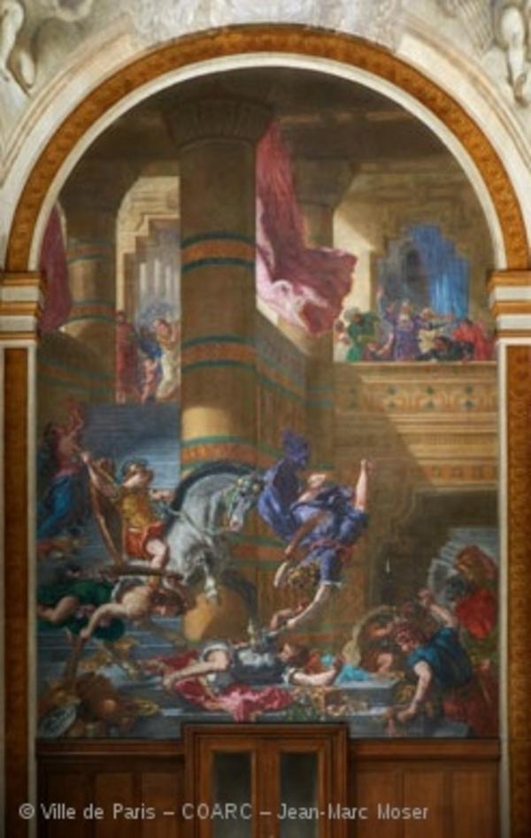 La restauration des peintures de Delacroix dans l'Eglise Saint-Sulpice
