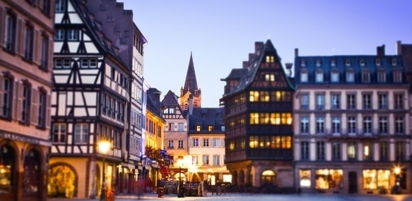 Balade nocturne dans Strasbourg illuminé
